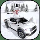 >冬季雪卡车3D